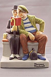 """Norman Rockwell """"The Interloper"""" Figurine (Figurines) at BG's China Replacement, Art Pottery & Porcelain Norman Rockwell Figurines, Norman Rockwell Art, Norman Rockwell Paintings, Rosie The Riveter, Couples In Love, Boy Scouts, Pottery Art, Vintage Art, Art Work"""