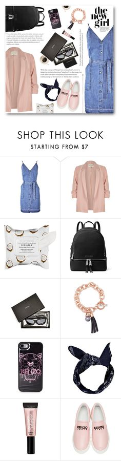 """""""City styled chic"""" by norairh ❤ liked on Polyvore featuring J Brand, River Island, Sephora Collection, MICHAEL Michael Kors, GUESS, Kenzo, Boohoo, Beauty Rush and Aspinal of London"""