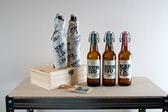 Beer labeling by Sigitas Guzauskas, via Behance