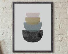 Printable Geometric Art Modern Graphic Printable by ThePrintable
