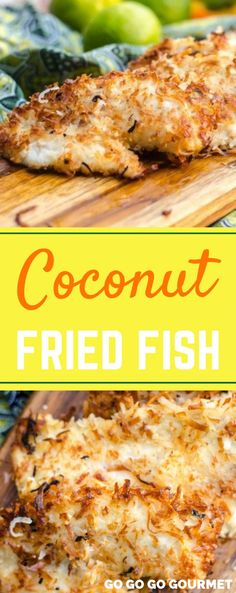 This Coconut Crusted Fried Fish recipe is a surefire way to add a little island . This Coconut Crusted Fried Fish recipe is a surefire way to add a little island flair to your day! Only a handful of pantry-ready ingredients and read. Best Fish Recipes, Fried Fish Recipes, Seafood Recipes, Favorite Recipes, Healthy Recipes, Best Fried Fish Recipe, Meal Recipes, Mexican Recipes, Recipies