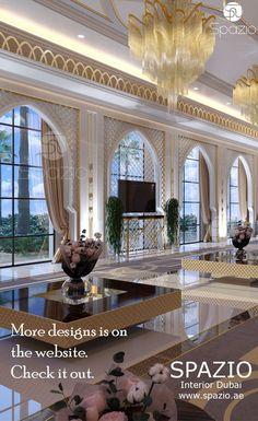Modern moroccan majlis interior design in luxury style. Order interior design for your majlis from Spazio Interior Decoration LLC. Mansion Interior, Luxury Homes Interior, Luxury Home Decor, Interior Design Dubai, Contemporary Interior Design, Modern Moroccan, Moroccan Design, Arabian Decor, Modern Luxury