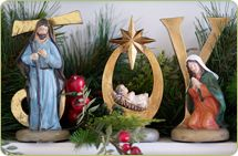 Valerie Parr Hill Nativity Scene - I have this & have given it many times as a gift.  It's LOVELY!
