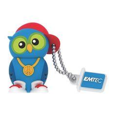 Clé USB Emtec 8 Go DJ hibou 2.0