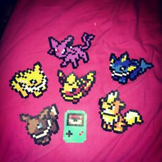 Pokemon Perler Beads Hama Beads, Pokemon Perler Beads, Bead Crafts, Arts And Crafts, Beading Patterns, Beading Ideas, Some Ideas, Bead Art, Pixel Art
