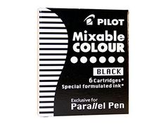 [regalado] 4,90€ Pilot Mixable Colour - Recambio para bolígrafos Pilot Parallel Pen (6 unidades), negro