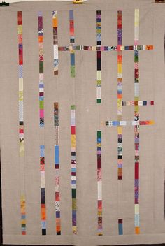 alfineteoficinaderetalhos:    T - The Linen Connection by Linda Rotz Miller Quilts & Quilt Tops on Flickr.