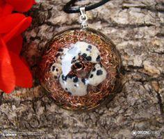 Orgone-Energy Pandantiv Emisferic cu Jasp Dalmatian