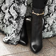 """I can't tell you how much attention my @gucci boots are receiving at #NYFW!"" -@sarahstylessea"