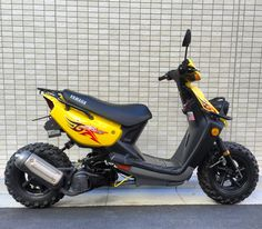 #bws100 Yamaha Scooter, Yamaha Cafe Racer, Scooter Custom, Custom Bikes, Bike Style, Moto Style, Motosport, 50cc, Mini Bike