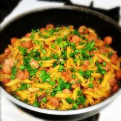 One Pan Frank N' Beans Pasta #AllstarsBarilla