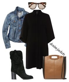 """""""Untitled #419"""" by johanavigu ❤ liked on Polyvore featuring Gap, Xander, Casadei, Le Specs and Maje"""