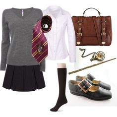"""Hermione Granger Costume"" by ardice on Polyvore:"