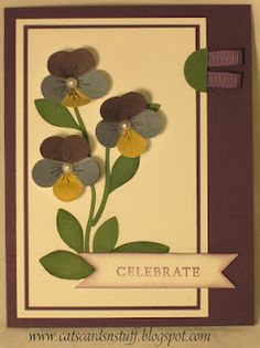 Tutorial included for this pansy card