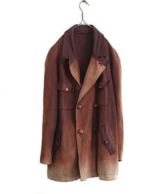 LILY1ST VINTAGE LATE 1800 - EARLY 1900'S FRENCH HUNTING COAT - FLORAISON