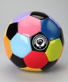Orange & Green Soccer Ball