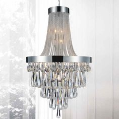 """Brizzo Lighting Stores. 52"""" Liberale Modern Crystal Large Foyer Round Chandelier Polished Chrome 17 Lights"""