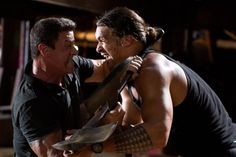 Still of Sylvester Stallone and Jason Momoa in Bullet to the Head (2012) - UH OH!!