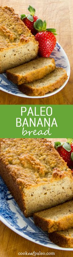 A paleo banana bread recipe that is gluten-free, grain-free, dairy-free, and refined sugar-free. ~ http://cookeatpaleo.com Sugar Free Banana Bread, Paleo Banana Bread, Banana Bread Recipes, Paleo Bread, Paleo Dessert, Paleo Sweets, Healthy Desserts, Dinner Dessert, Healthy Foods