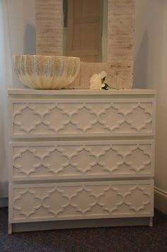 """Overlay Jasmine Kit for IKEA Malm 3 Drawer Dresser in 1/4"""" thick material"""