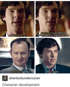 This episode really did showcase exactly how much Sherlock's changed since season 1--notice that he was actually attempting to be somewhat polite to the couple who had lost their son.