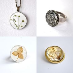 resin jewelry - white background