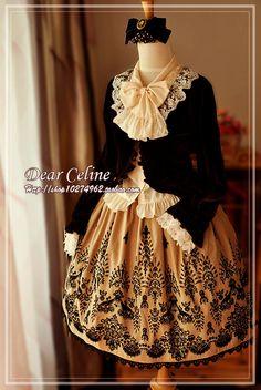 dear celine coordinate in gold, black and white. lolita