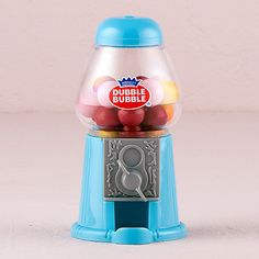 Mini Classic Blue Gumball Dispenser
