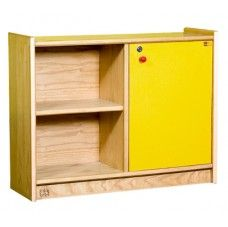 Classic Storage Units-Classic Storage Unit 3 45603 Modular units with many configurations to fit different classroom walls. Made of 18 mm thick M.D.F with unscratchable washable beech veneer laminate. The edges are rimmed with a thick rounded-off edged plastic frame. Doors are made of colored melamine with 3 alternative colors (red -blue - yellow). Size: 90 x 30 x 70 cm