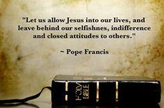 ~ Pope Francis.... Thank Heavens.