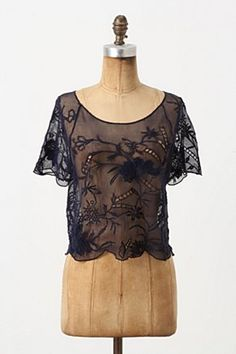 Mesh top from Anthropologie, would need dark blue for underneath