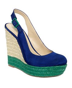 A bright color blocked espadrille is perfect for a morning farmers' market run.