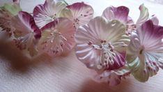Pink Romance Satin Millinery Flower YoYos in for Bridal, Headbands, Fascinators, Floral Supply MF 85