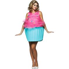 Cupcake Adult Halloween Costume,, lmao i need this to cover up my muffin top hahaha