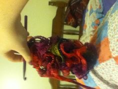 Crocheting a scarf with sashay for the first time..Coming out good so far!