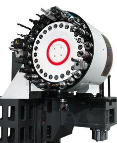 Вертикальный обрабатывающий центр с ЧПУ ФС85МФ3. Магазин инструментов.