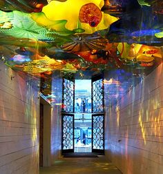 CHIHULY'S BOATHOUSE STUDIO, 2001  ENTERING THE HOTSHOP   UNDER THE PERSIAN CEILING  SEATTLE, WASHINGTON