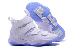 wholesale dealer 04ce6 824c8 Nike LeBron Soldier 11 White Basketball Shoes Discount Shoes Online, White  Basketball Shoes, Fashion