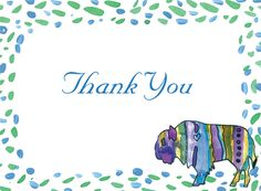 """Cancer Cures Collection  I Love Buffalo  Thank You Card  4 3/4"""" x 3 1/2"""" Folded  Full Color as shown  $26.00 for 16 Thank Yous"""