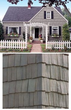 The Appearance of Hand Split Shake Shingles with Nailites Low Maintenance Vinyl Siding | via abchomecenter.com