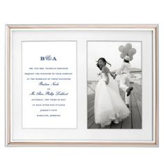 kate spade new york Rosy Glow Double Invitation Frame | Bloomingdale's