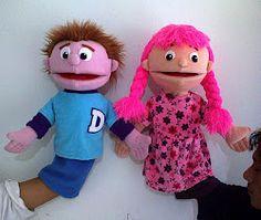 'Bro & Sist' handpuppet by Tsabita Boneka Girl Puppets, Felt Puppets, Puppets For Kids, Puppet Toys, Puppet Show, Hand Puppets, Crafts To Make, Crafts For Kids, Custom Puppets