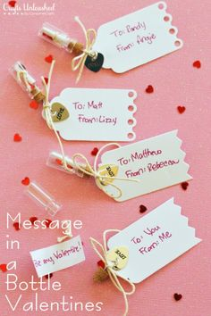 Handmade Message in a Bottle Valentines   25+ Sweet Gifts for Him for Valentine's Day