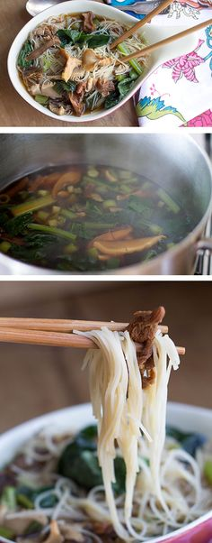 Chinese Mushroom Noodle Soup - Erren's Kitchen - #delicious #recipe #Nomnom #soup
