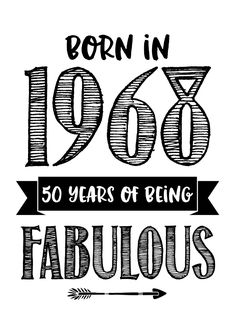 Hippe kaart met de tekst 'Born in 1969 50 years of being fabulous'. 50th Birthday Quotes, 50th Birthday Cards, Happy 50th Birthday, Happy Birthday Images, Birthday Wishes, Happy Birthday 50, Birthday Ideas, 50th Birthday Cake Toppers, Fabulous Quotes