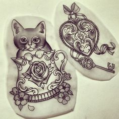 traditional tattoo designs...hm.. a teacup but with an owl for my Nanny. could work.