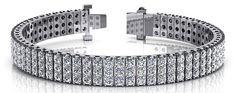 Classic Three Row Diamond Bracelet