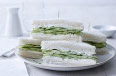 Frisk agurkesandwich