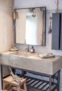 rustic concrete bathroom sink