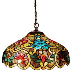Tiffany Style Victorian Design 2-light Bronze Pendant | Overstock.com Shopping - Great Deals on Tiffany Style